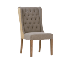 High Back Tufted Chair Canvas Beach Dining Chairish For Sale