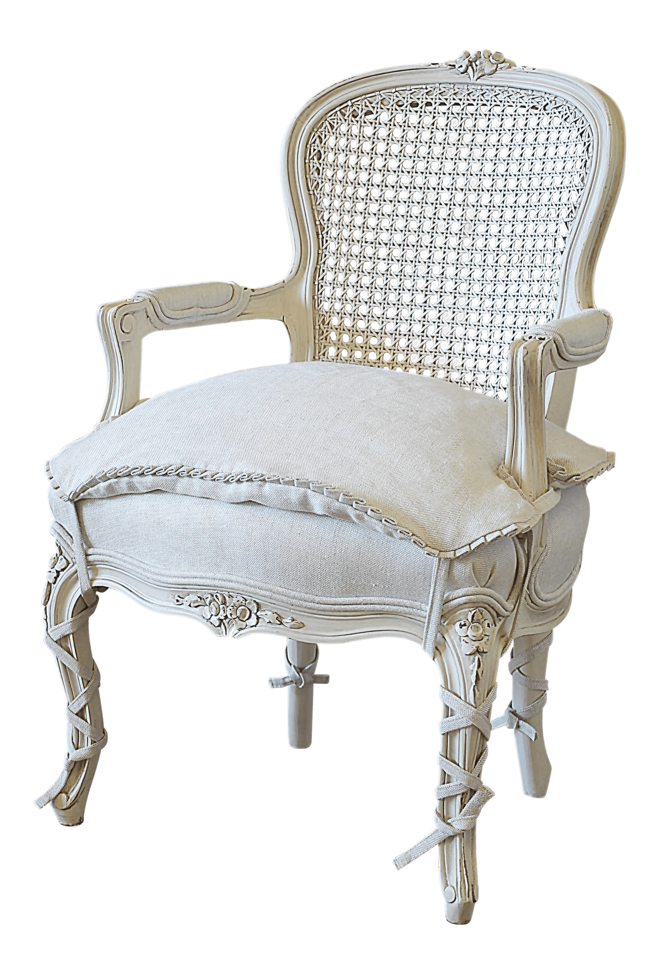 french provincial adele occasional chair wooden adirondack chairs vintage used shabby chic side chairish 20th century style louis xv cane back childs