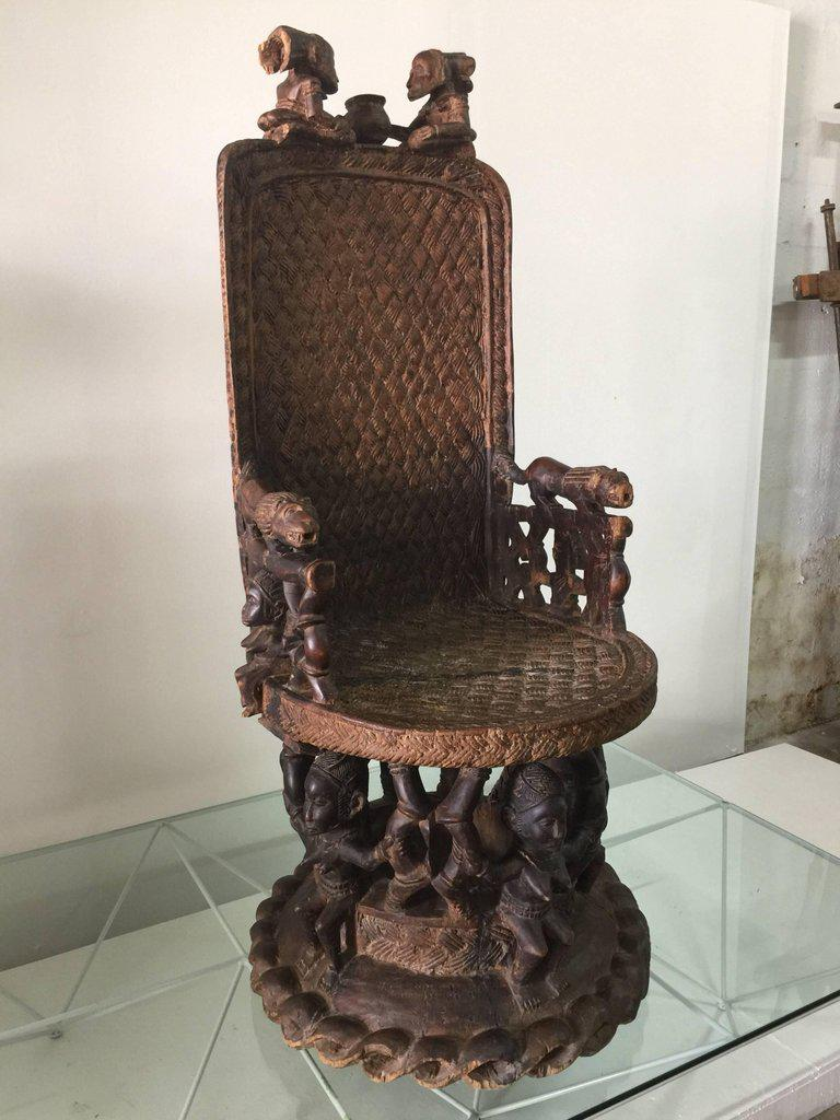 kings chair for sale large tub covers superb carved wood african throne decaso image 10 of