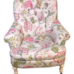 Floral Upholstered Chair Children S Folding Chairs Argos Lillian August Albert Tufted Chairish