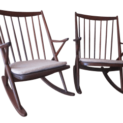 Old Fashioned Rocking Chairs Wicker Baby Shower Chair Vintage Used For Sale Chairish