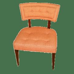 Modern Slipper Chair Leather Wingback Henredon Mid Century Chairish For Sale