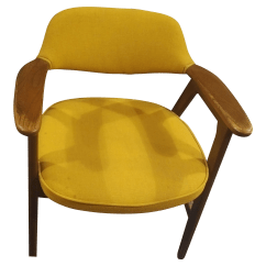 Yellow Office Chair Meme Vintage Used Chairs Chairish Mid Century Modern Padded Paoli