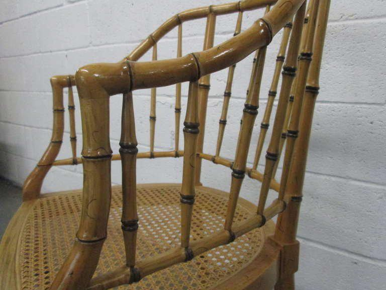 bamboo chairs for sale the chair outlet keizer oregon lovely pair faux decaso baker furniture company image 4 of 5