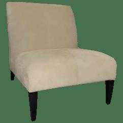 White Leather Slipper Chair Swivel Under 30 Fendi Casa Off Suede Chairish For Sale