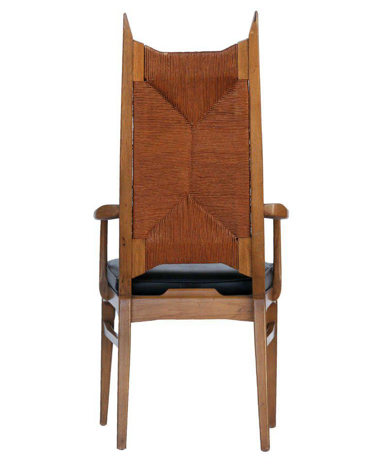 danish modern dining chair spandex covers on ebay world class set of six high back cathedral chairs for sale image 5