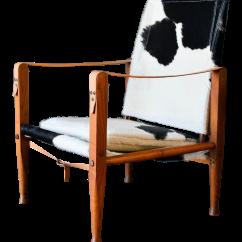 Black And White Cowhide Chair Lazy Boy Parts 1950s Kaare Klint Safari Chairish