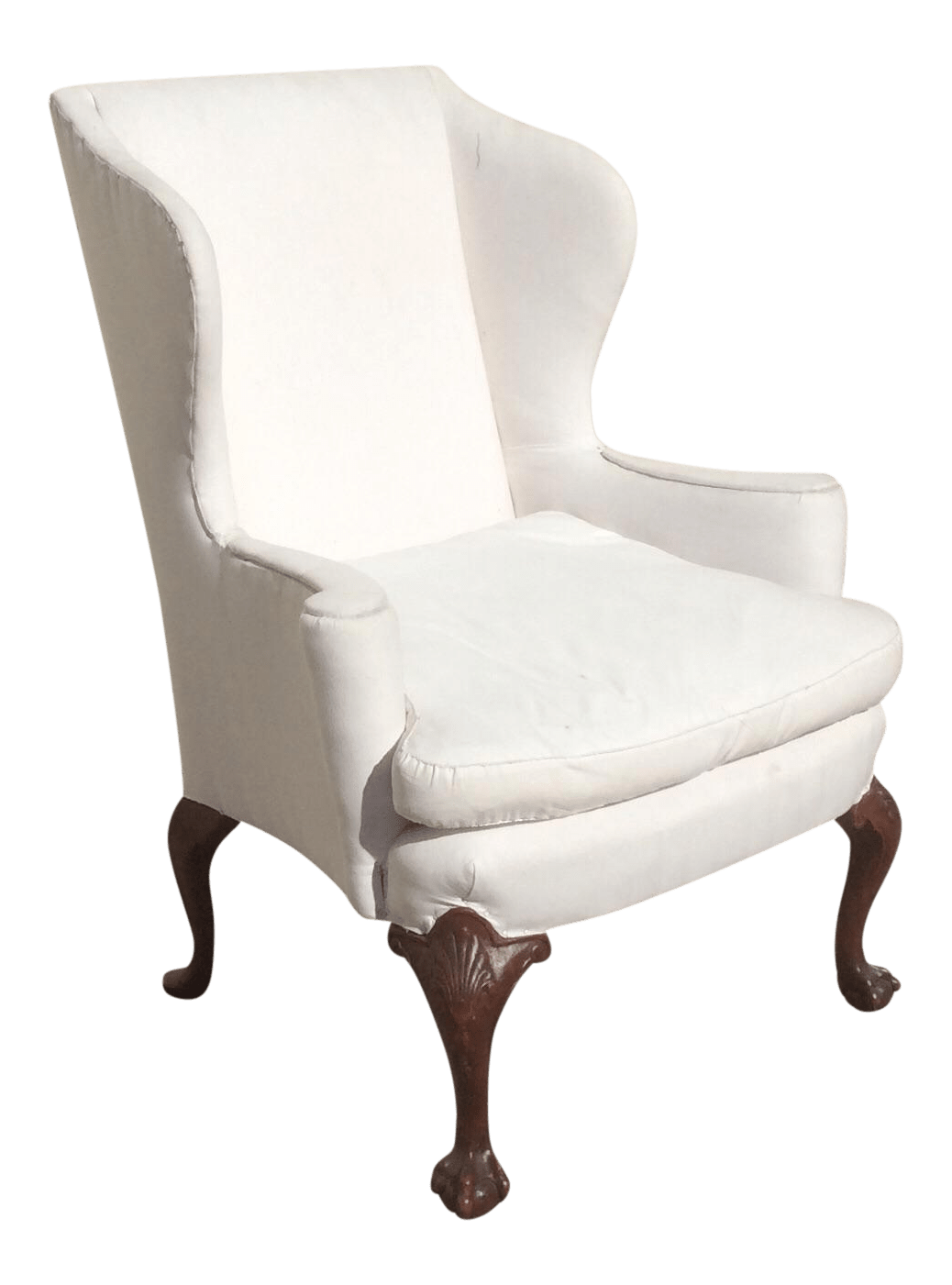 White Wing Chair White American Wingback Chair