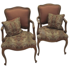 Bergere Chairs For Sale Black Linen Chair Covers Vintage Used French Provincial Chairish Pair Of