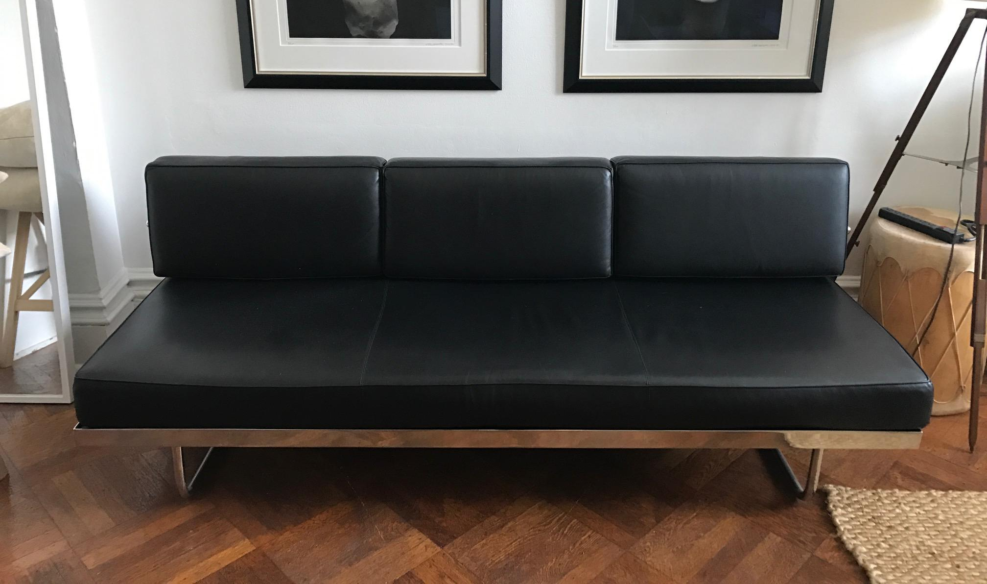lc5 sofa price kijiji montreal furniture leather sets le corbusier daybed chairish day bed is a three seat with an attached backrest that