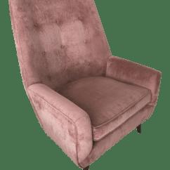 Velvet Armchair Pink Used Chair Lifts Vintage Mid Century Chairish