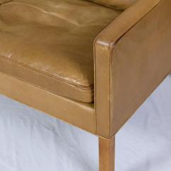 Borge Mogensen Sofa Model 2209 Italian Leather Designs World Class Three Seat Decaso Animal Skin For Sale Image