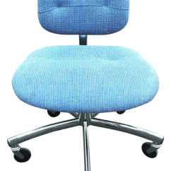 Turquoise Office Chair French Cane Back Dining Chairs Vintage Used Steelcase Chairish Modern Blue Swivel