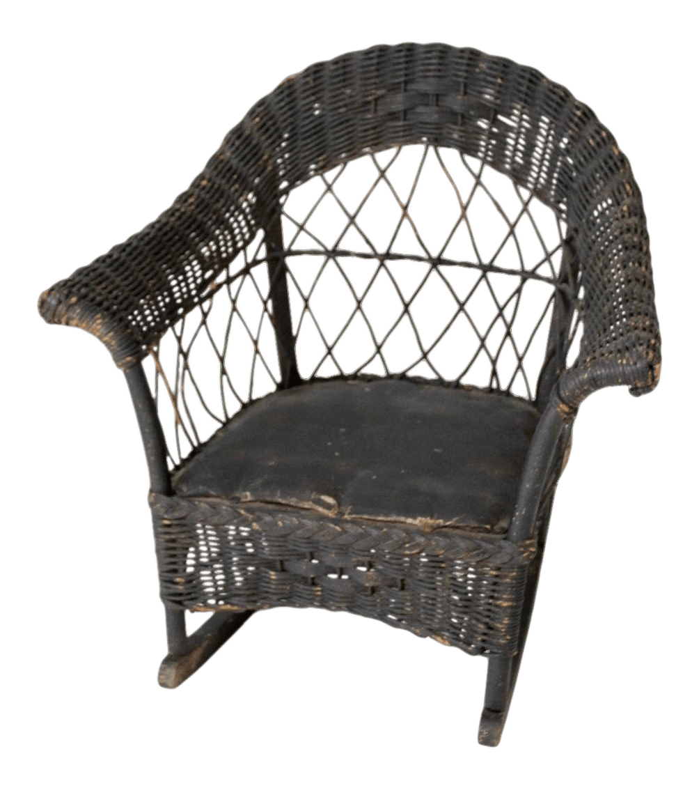 wicker rocking chairs posture desk stool antique children s chair chairish