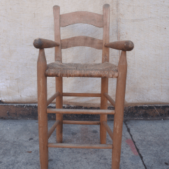 Antique High Chairs Evenflo Chair 4 In 1 Folk Art Handmade Child S With Rush Seat Chairish Early American For Sale Image