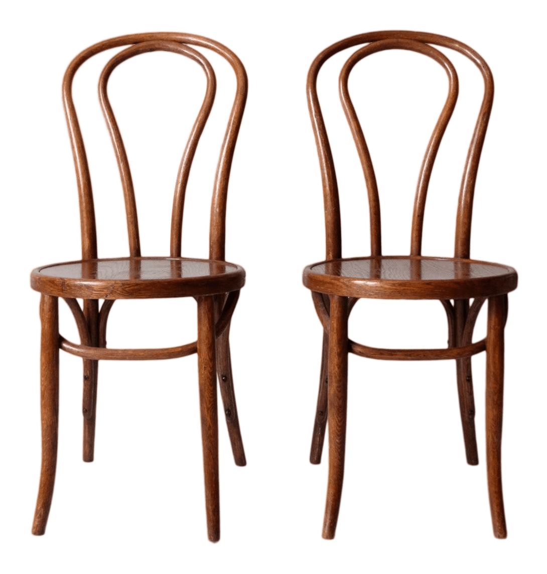 vintage bentwood chairs snille swivel chair review a pair chairish for sale