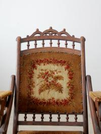 Victorian Tapestry Upholstered Folding Chair | Chairish
