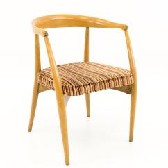 Mid Century Barrel Dining Chair Kaikoo Single Folding Bed Vintage Lawrence Peabody For Nemschoff 20th Chairs Set