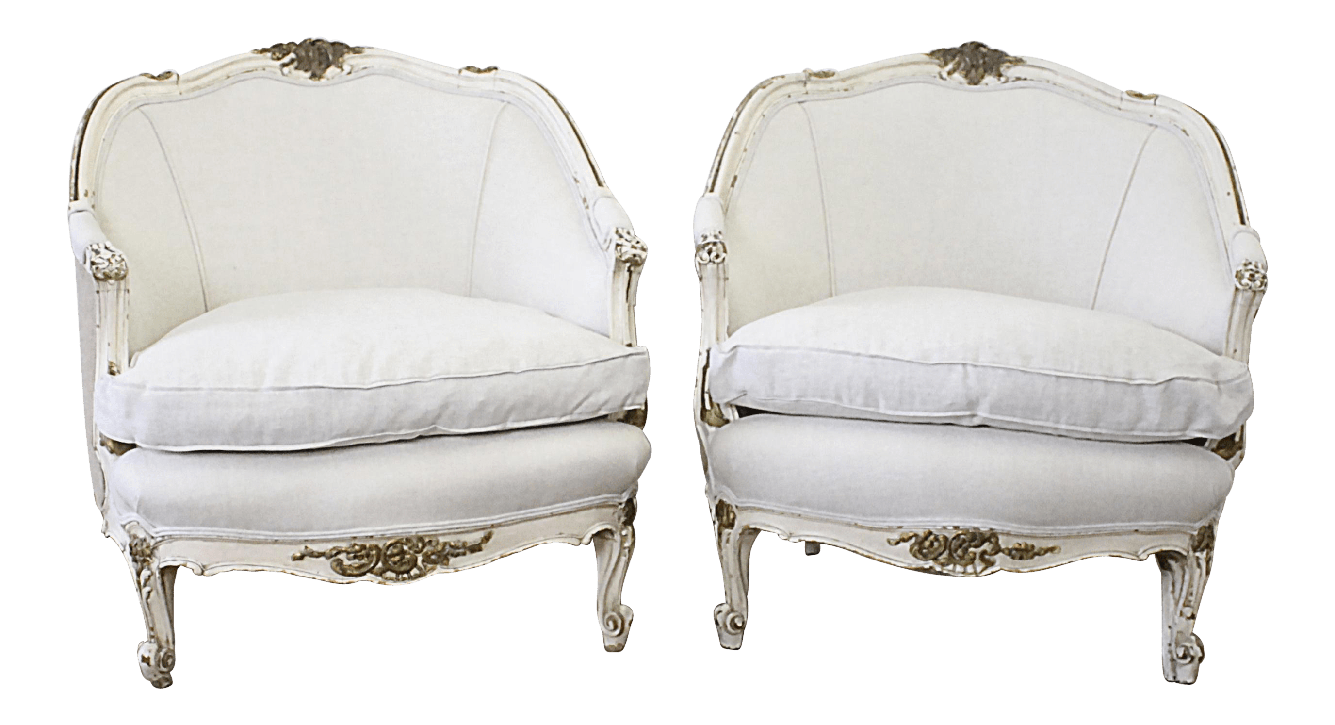 bergere dining chairs bistro patio vintage used for sale chairish mid century louis xv style original painted french a pair