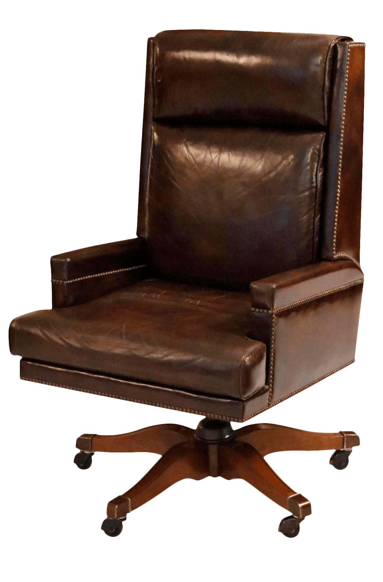 desk chair made executive chairman vs leather by baker furniture chairish for sale