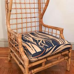 Rattan Wingback Chairs Chair Design In Autocad Vintage Bamboo Wing Back Chairish A Made From And