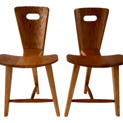 3 Legged Chair Wingback Office Desk Tage Frid Style Chairs A Pair Chairish For Sale