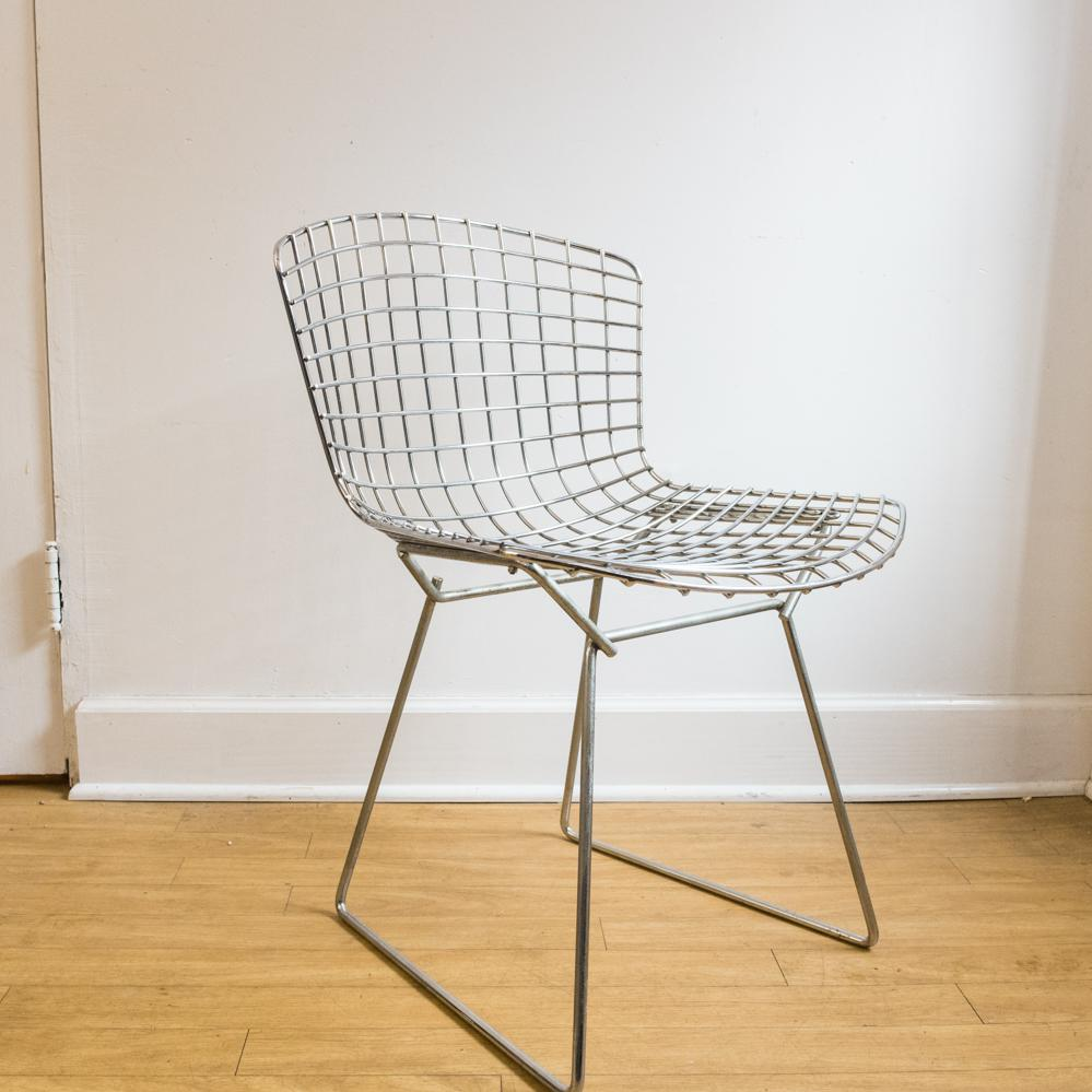 bertoia wire chair original cover rental phoenix harry chairish for sale image 4 of 6