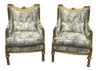 Louis XVI Baroque Bergere Chairs - A Pair | Chairish