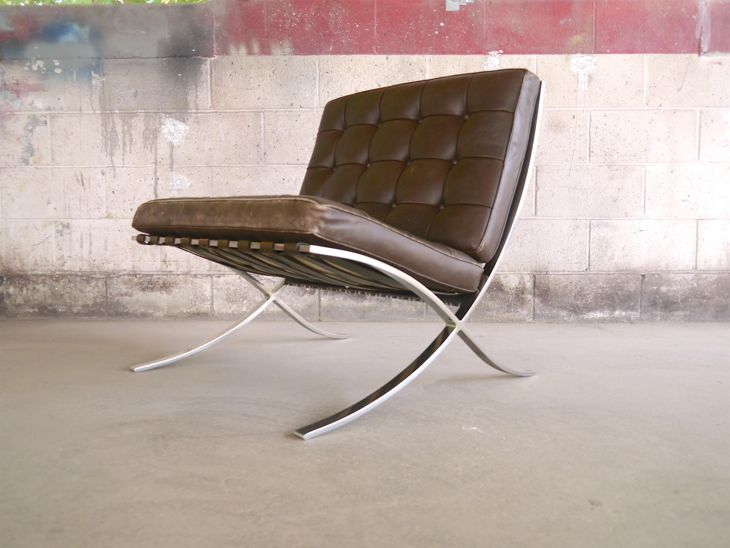 barcelona chairs for sale diy dining world class pair of by mies van der rohe knoll animal skin