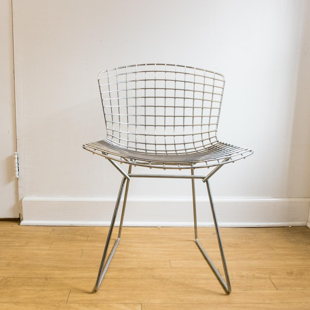 bertoia wire chair original minnie mouse foam harry chairish danish modern for sale image 3 of 6