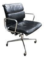 Vintage Mid Century Charles Eames For Herman Miller Soft Pad Executive Office Chair Chairish