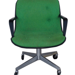 Steelcase Vintage Chair Roll Arm Slipcovers Mid Century Modern Green Office Chairish For Sale