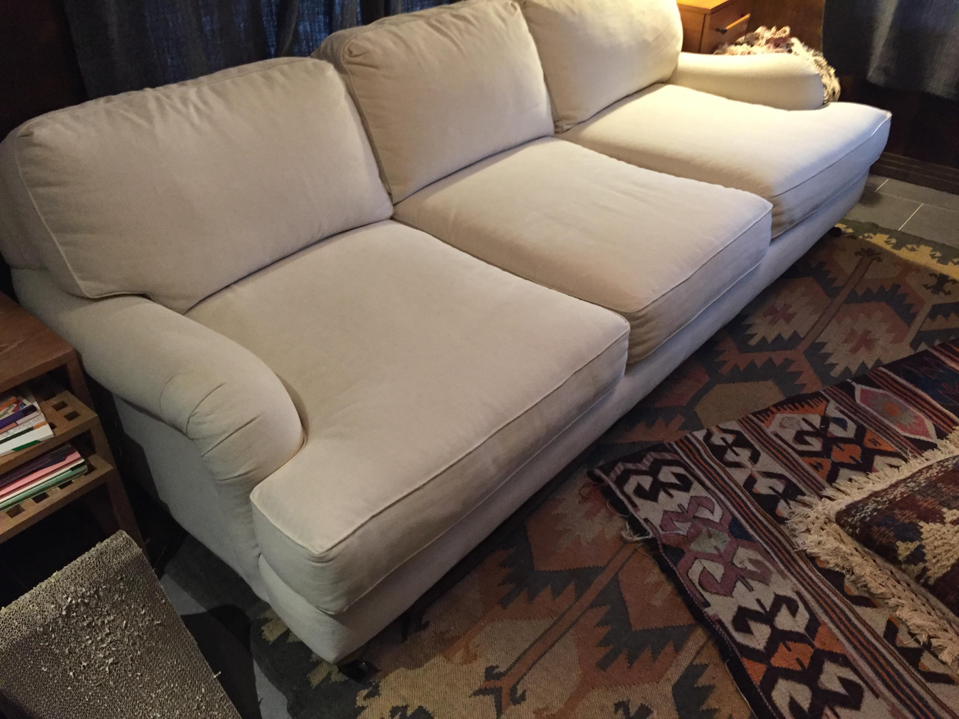 Restoration Hardware OffWhite Barclay Sofa  Chairish