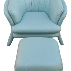 Turquoise Lounge Chair Kmart Kitchen Table And Chairs Carson S Sculptural Mid Century Modern W Ottoman For Sale