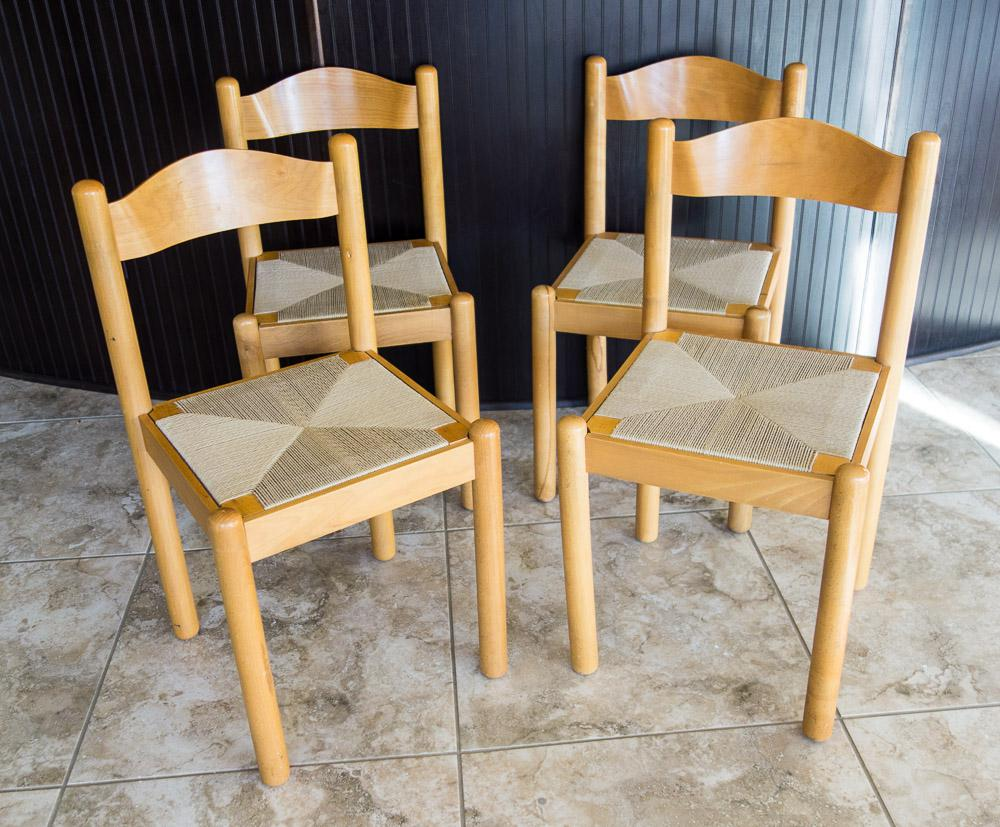 rush seat chairs stool chair green mid century style italian dining set of 4 chairish this is a beautiful four in the heywood wakefield