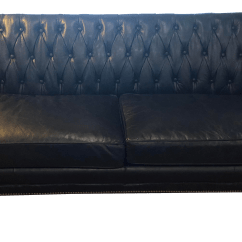 Black Leather Sofa With Nailheads Best Bed In Dubai Schoolhouse Electric Nailhead Trim Brand New Chairish