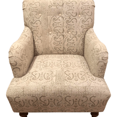 Tufted Accent Chairs Palecek Dining Modern Shabby Chic Mixed Fabric Chair Chairish