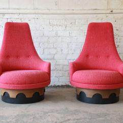 Swivel Chair In Spanish Comfy Pc Gaming Superb 1960s Vintage Adrian Pearsall High Back Chairs A An Outstanding Original Pair Of Designed By For His