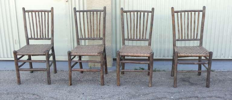 hickory chairs for sale cane exquisite signed old original grey painted in los angeles image 6