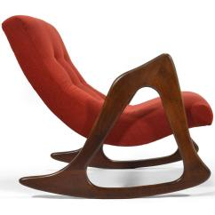 Adrian Pearsall Rocking Chair The Fic Incredible By Craft Associates Decaso Red For Sale Image 8 Of