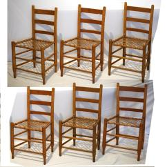 Handmade Wooden Chairs For Babies To Sit Up In 19th C Wood Rawhide Dining Set Of 6 Chairish Six With Seats Made The Historic Aurora