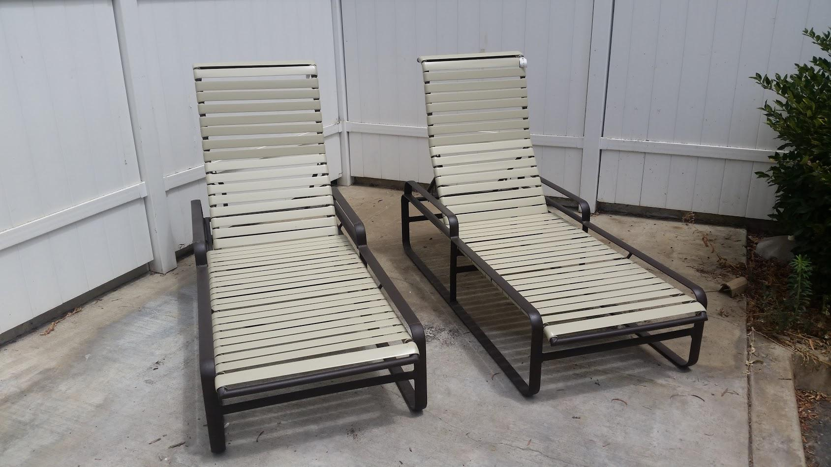 tropitone lounge chairs dream massage chair 1970s brasilia chaise lounges a pair chairish of authentic vintage 1970 s in fair condition powder coated