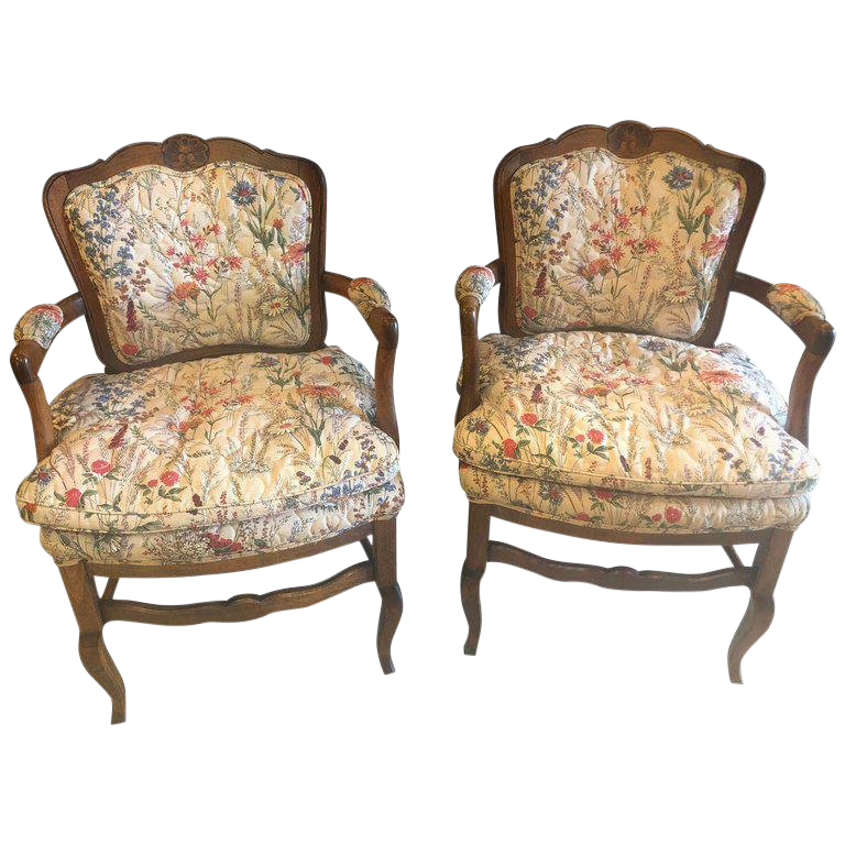 louis xv chair atlas tables and chairs country french boudoir fauteuil in quilted like upholstery pair