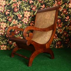 British Colonial Chair Swivel Helinox Plantation With Wicker Seat Chairish Amazing Antique Large Mahogany Cane Drop Dead Stunning
