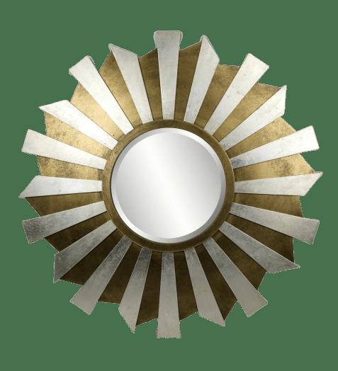 Stargazer Solid Wood Gold Amp Silver Wall Mirror Chairish