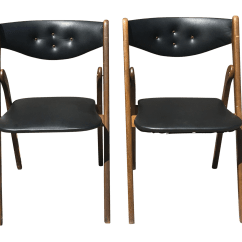 Coronet Folding Chairs Wedding Chair Covers Hire Cornwall 1950s Mid Century Modern Wonderfold Set Of 4 For Sale