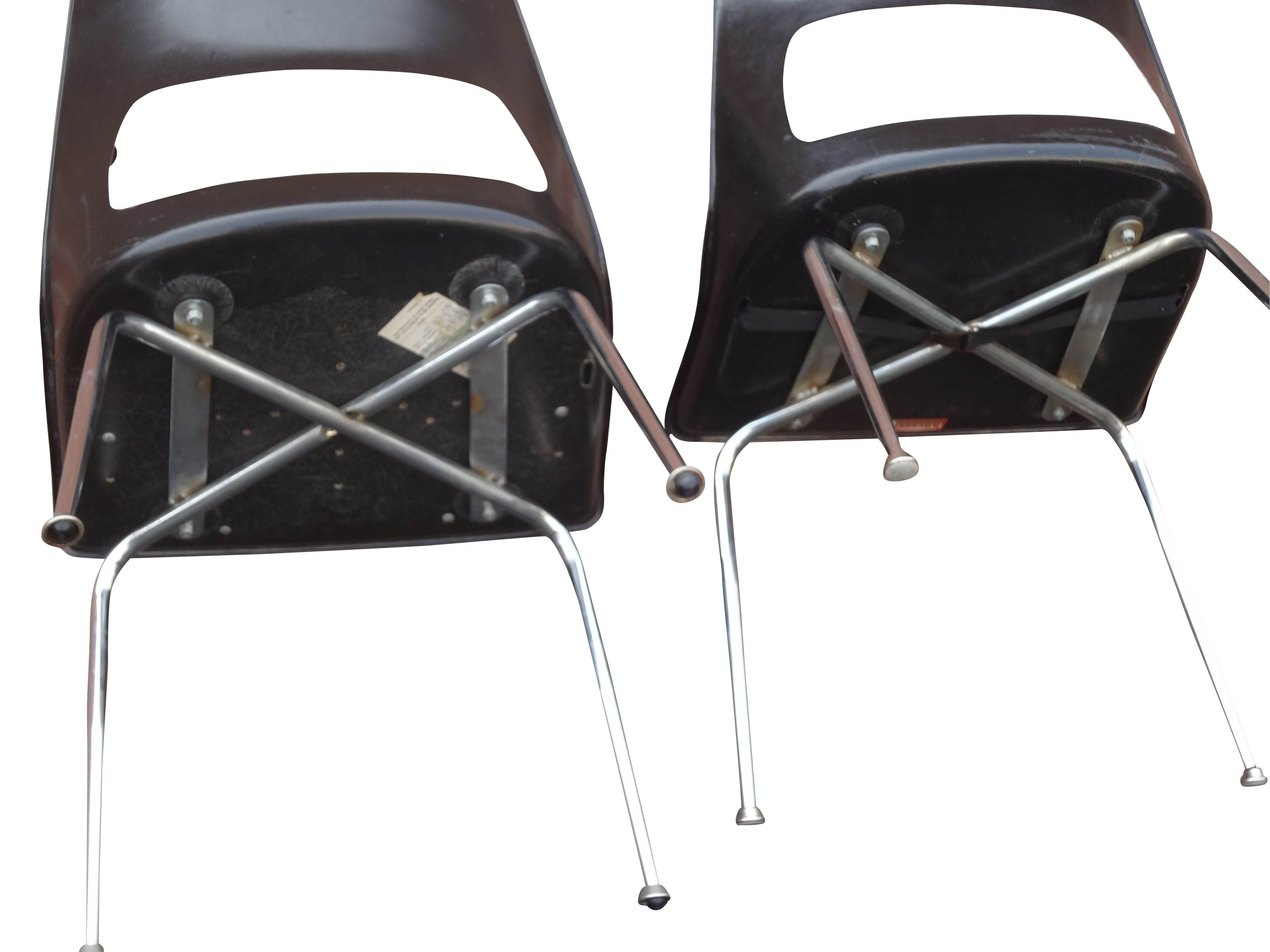 krueger folding chairs chair covers wedding canada fiberglass a pair chairish burke for sale image 4 of 6