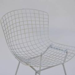 Bertoia Wire Chair Original Red Leather Parsons Chairs Exceptional Set Of Four By Harry For 1950s Knoll Sale Image