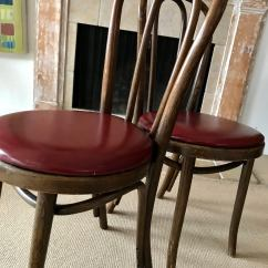 Vintage Bentwood Chairs Mainstays Xl Zero Gravity Chair With Side Table And Canopy Thonet In Burgundy Chairish For Sale Image 4 Of 11