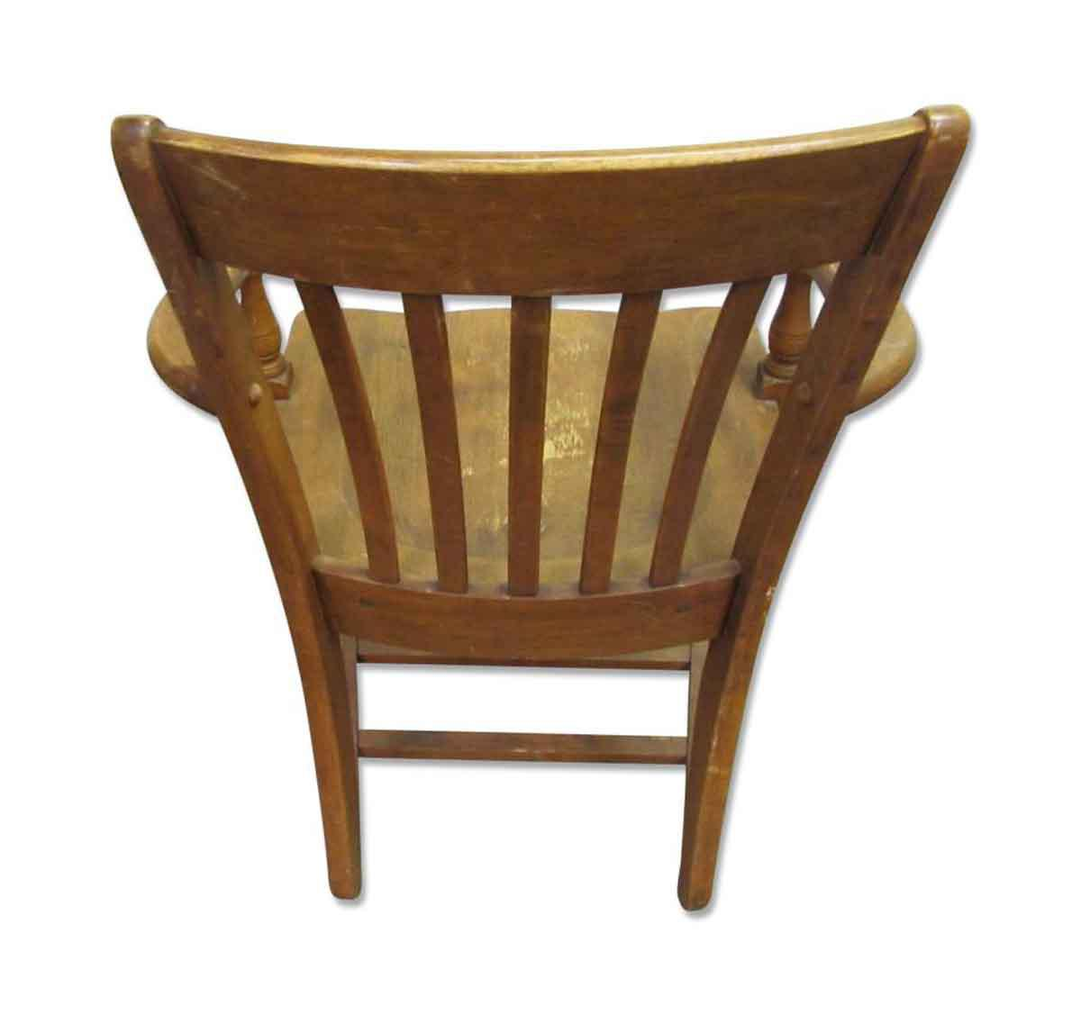 vintage wooden chairs compact table and ikea chair chairish for sale image 4 of 7
